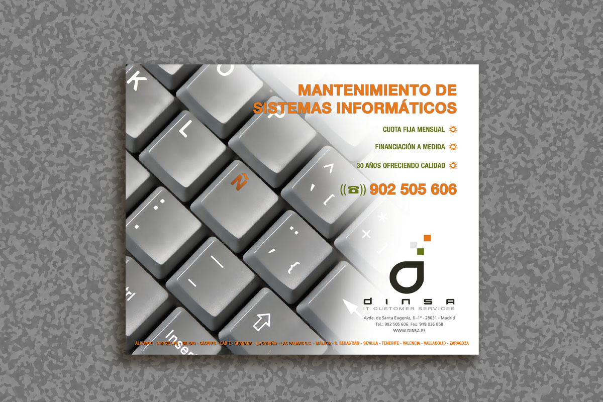 Mac-Mahon Publicidad alfombrilla Dinsa