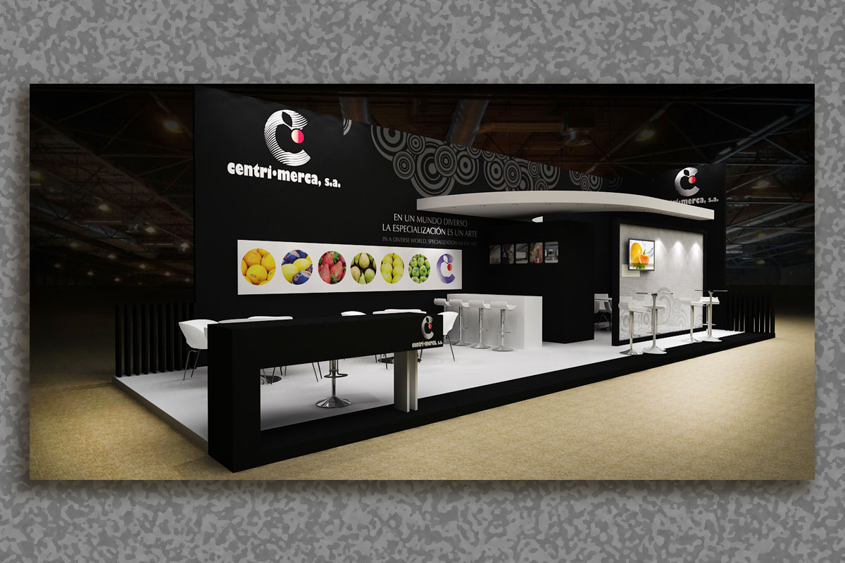 Mac-Mahon Publicidad 3D stand CentriMerca