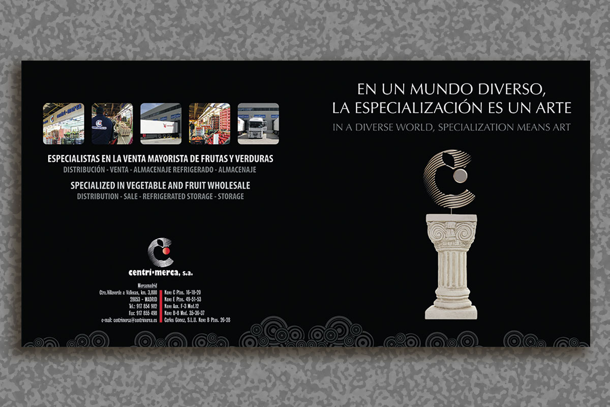 Mac-Mahon Publicidad Diptico CentriMerca