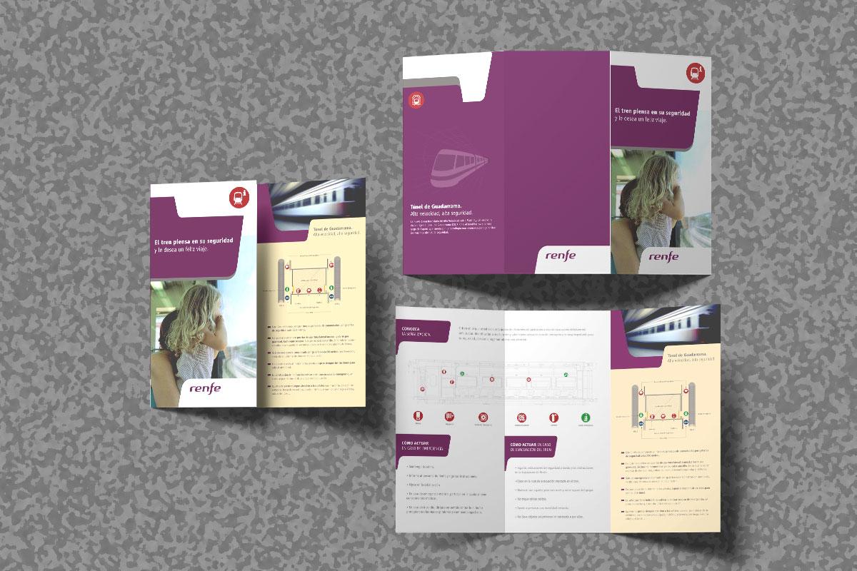 Mac-Mahon Publicidad Renfe folleto